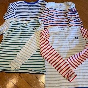 Petit Bateau long sleeve tops size 10-12